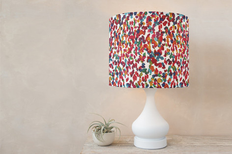 Colorful marks II Self Launch Drum Lampshades