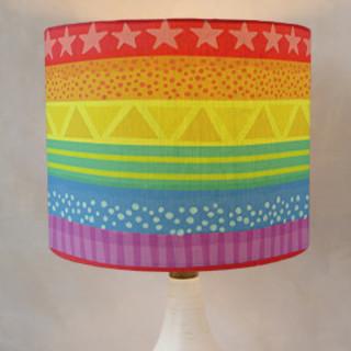 Rainbow Brights Self-Launch Drum Lampshades