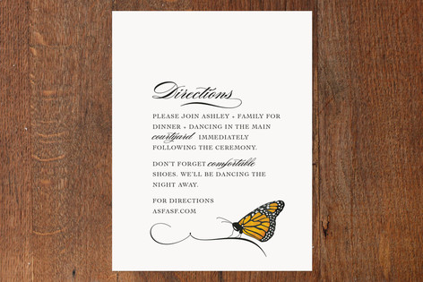 Fly Butterfly Mitzvah Direction Cards