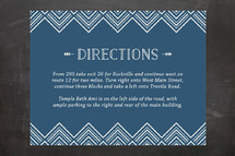 Mitzvah Direction Cards