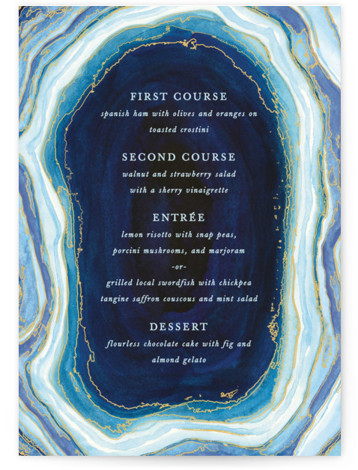 Gilt Agate Menu