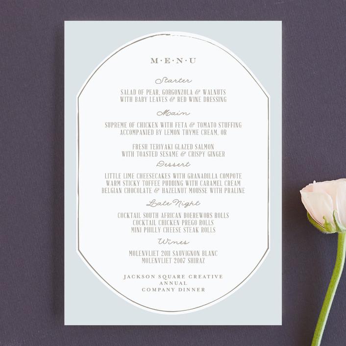 """""""Fancy Fete"""" - Formal Menu Cards in Truffle by Phrosne Ras."""