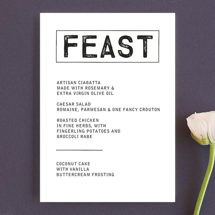 """Feast"" - Menu Cards in Ink by Marabou Design."