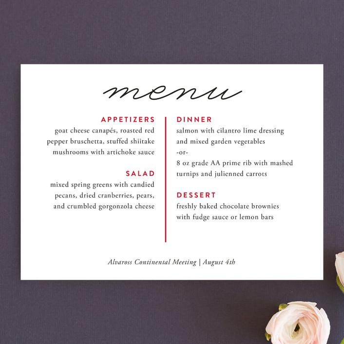 """Sparrow"" - Simple Menu Cards in Cherry by Rebecca Daublin."