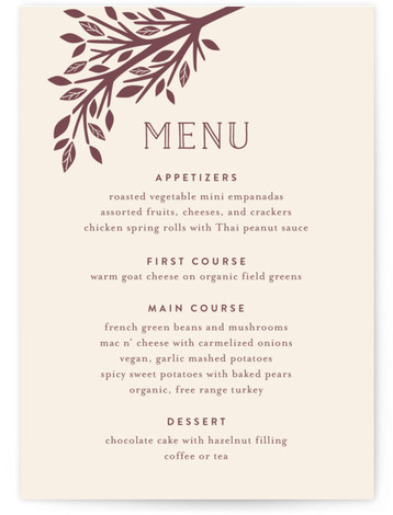 Enchanted Menu