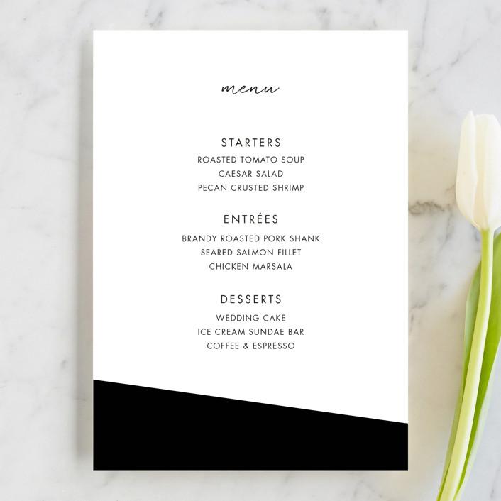 """Metropolitan Romance"" - Menu Cards in Midnight by Makewells."