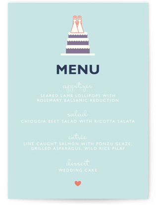 Two Brides Destination Menu
