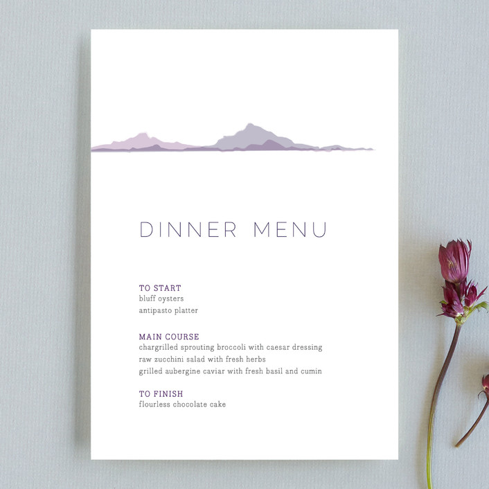 """""""On The Horizon"""" - Abstract Menu Cards in Haze by R studio."""
