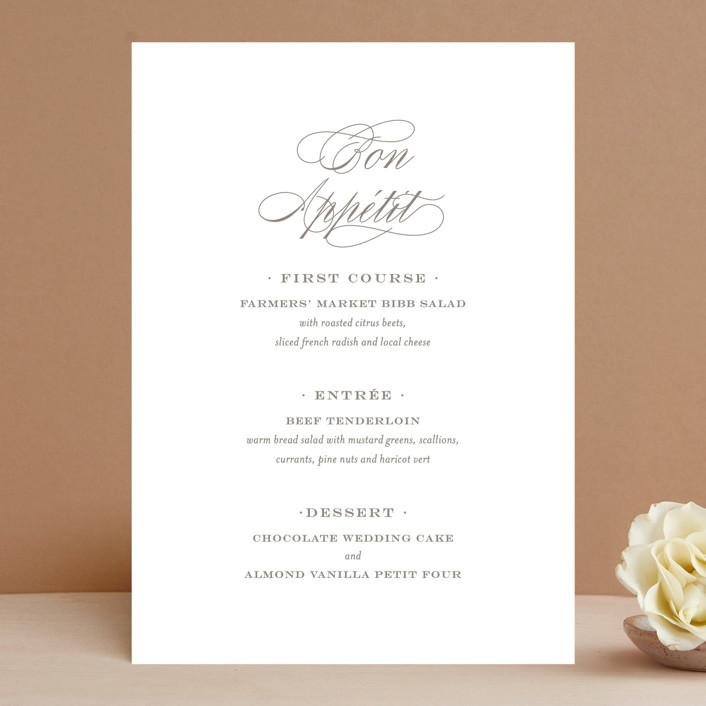 """""""Field"""" - Menu Cards in Ash by Toast & Laurel."""