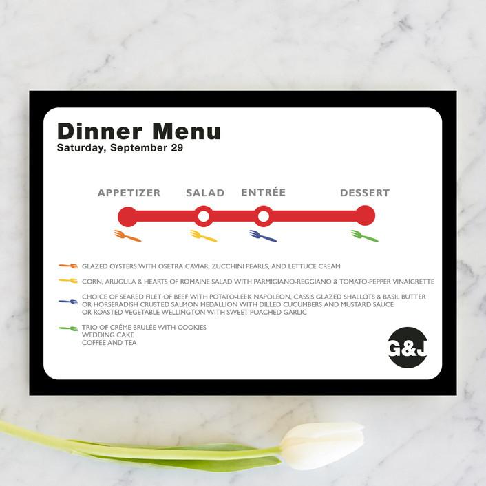 """Dinner Map"" - Modern Menu Cards in Cloud by Fred Designs."