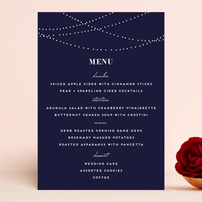 """Lavish"" - Formal, Elegant Menu Cards in Chalkboard by Design Lotus."