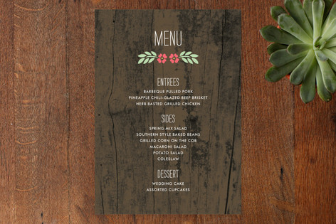 In the Park Menu Cards