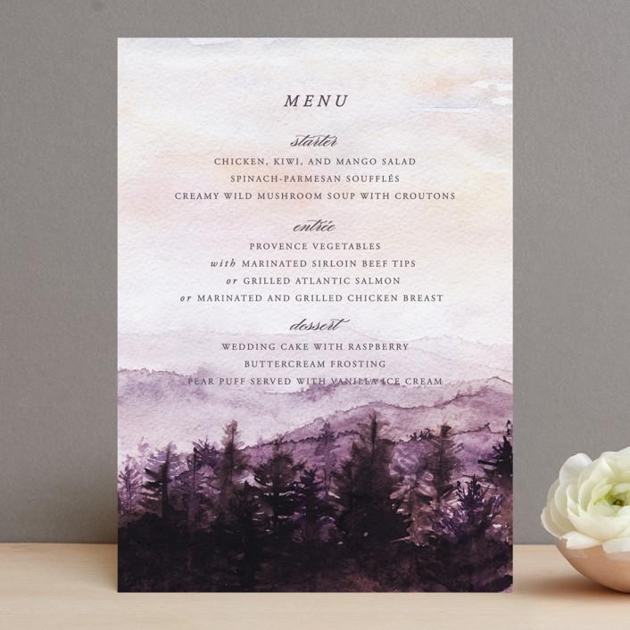 """mountain wedding"" - Menu Cards in Sunrise by Anastasia Makarova."