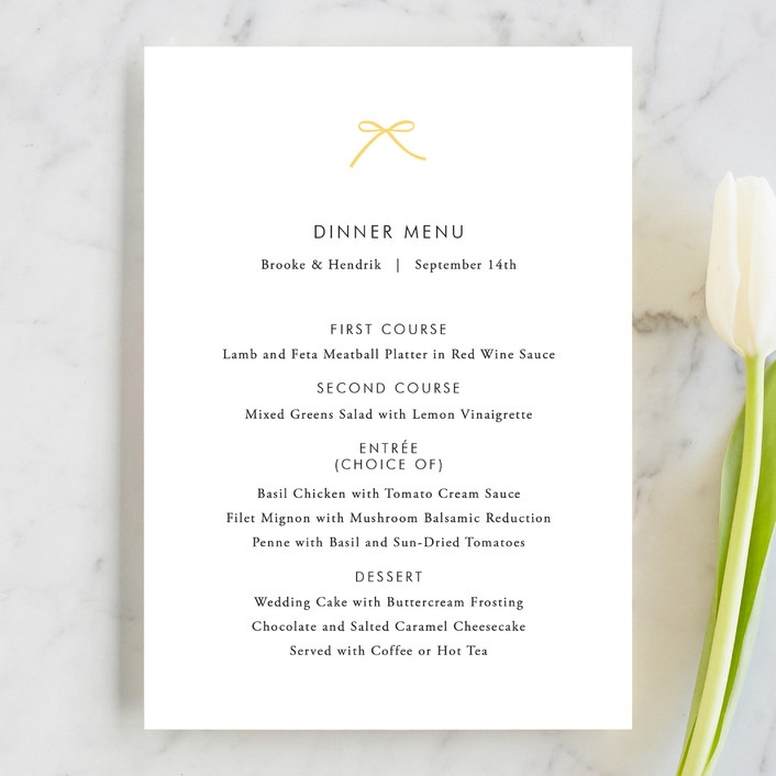 """Sweet Boutique"" - Simple Menu Cards in Sunny Day by Design Lotus."