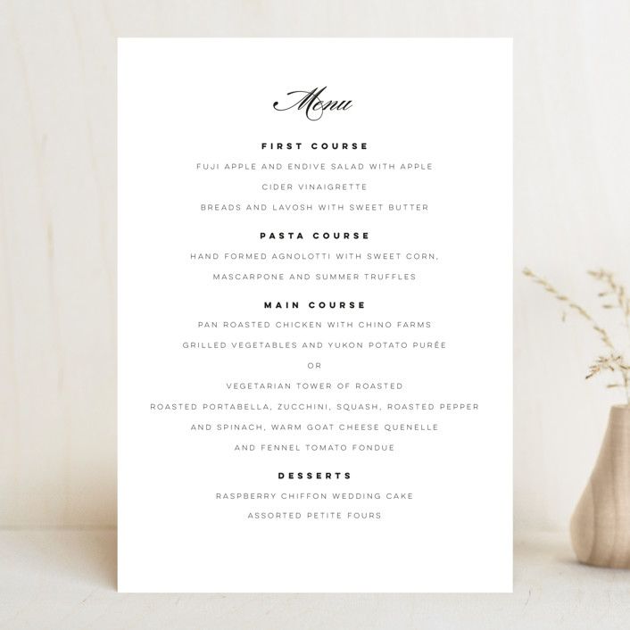 """Waltz"" - Menu Cards in Tuxedo by Lori Wemple."