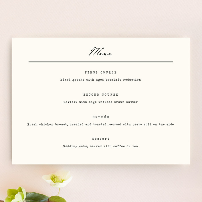"""Airmail"" - Vintage Menu Cards in Ivory by annie clark."
