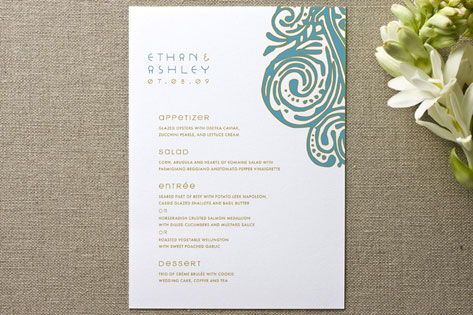 Metro Chic Menu Cards