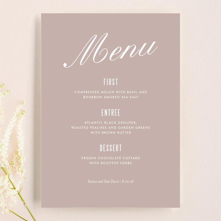 """Modern Marble"" - Modern, Simple Menu Cards in Mocha by kelli hall."
