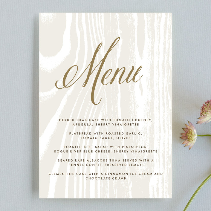 """Big Sur"" - Rustic Menu Cards in Weathered Oak by annie clark."