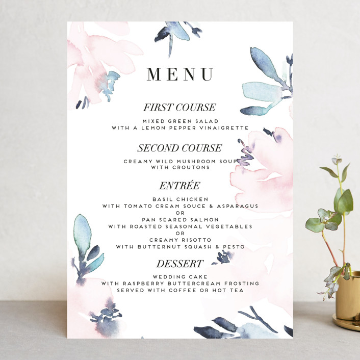 """Florista Modernista"" - Menu Cards in Azalea by Petra Kern."