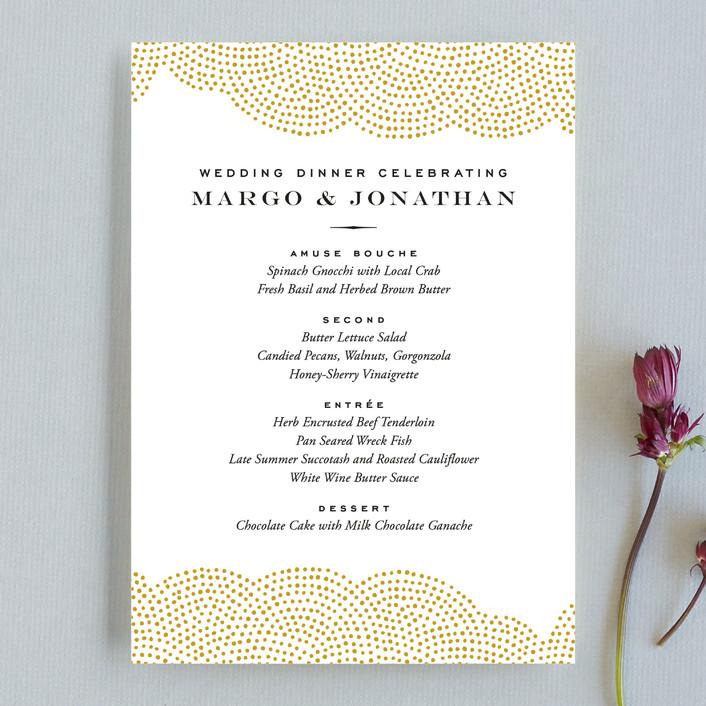 """""""Majestic"""" - Elegant, Formal Menu Cards in Champagne by Oscar & Emma."""
