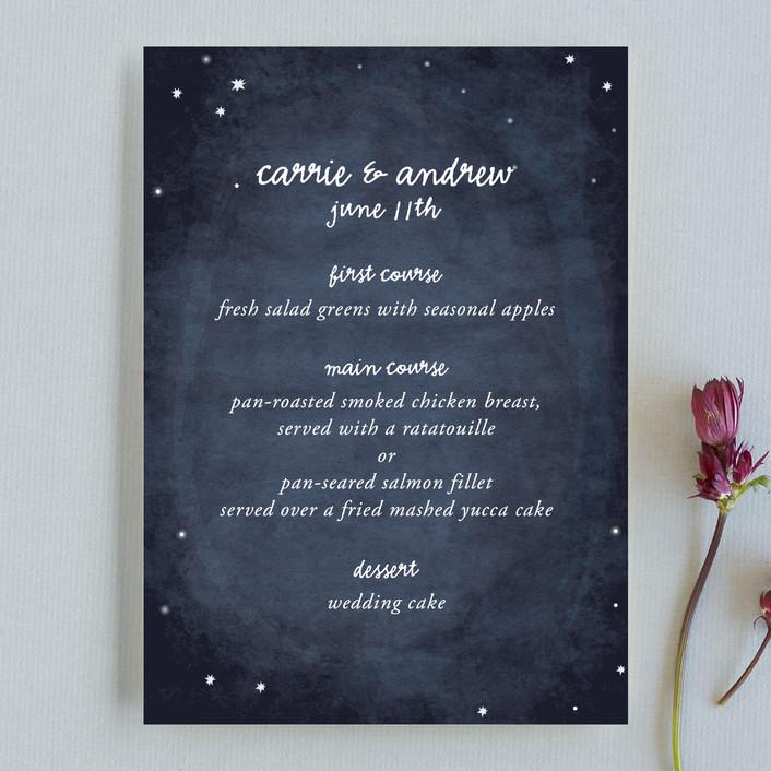 """""""Constellations"""" - Rustic, Modern Menu Cards in Deep Blue by SimpleTe Design."""