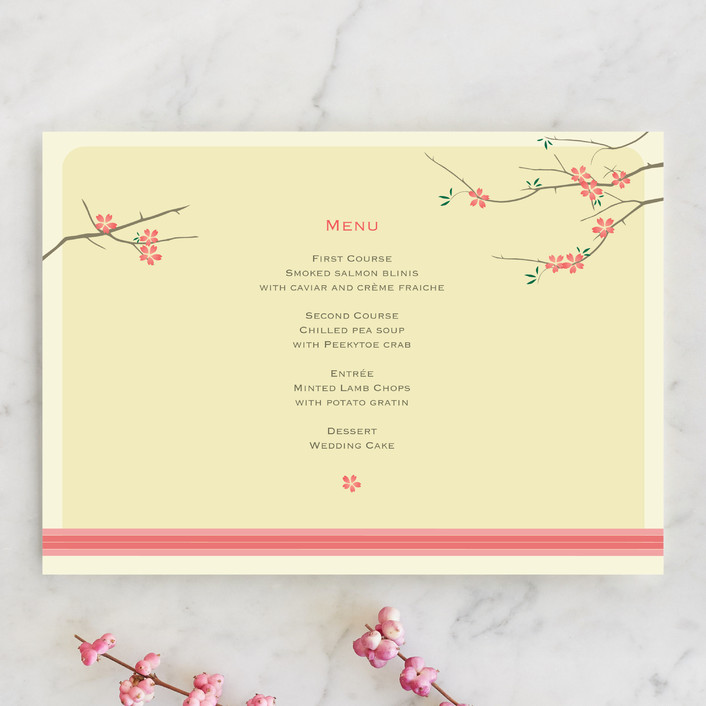 """""""Journey Together"""" - Rustic, Whimsical & Funny Menu Cards in Buttercream by Letter19Design."""