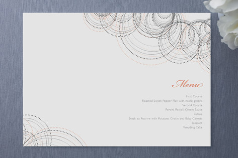 Intricate Menu Cards