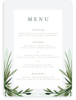 This is a green menu card by Kate Ahn called Botanical Frame with standard printing on signature in standard.