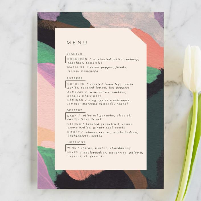 """Adagio"" - Menu Cards in Lilac by Moglea."