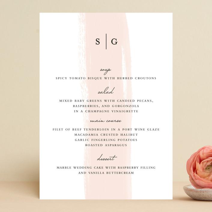 """""""Single Swath"""" - Menu Cards in Blush by Angela Marzuki."""