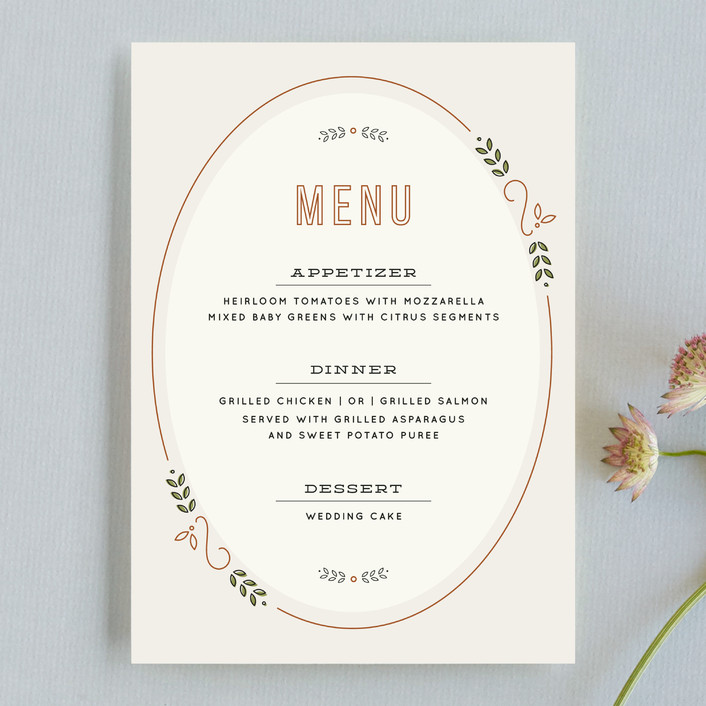 """The Union"" - Bold typographic Menu Cards in Sand by Dana Beckwith."