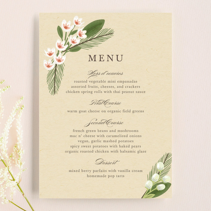"""""""Rustic Ranch"""" - Menu Cards in Champagne by Griffinbell Paper Co.."""