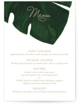 This is a white menu card by Kaydi Bishop called Palm with standard printing on signature in standard.