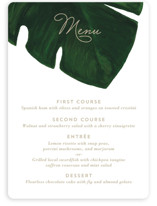 This is a green menu card by Kaydi Bishop called Palm with standard printing on signature in standard.