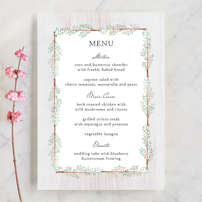 """""""In the Woods"""" - Menu Cards in Cloud by lulu and isabelle."""