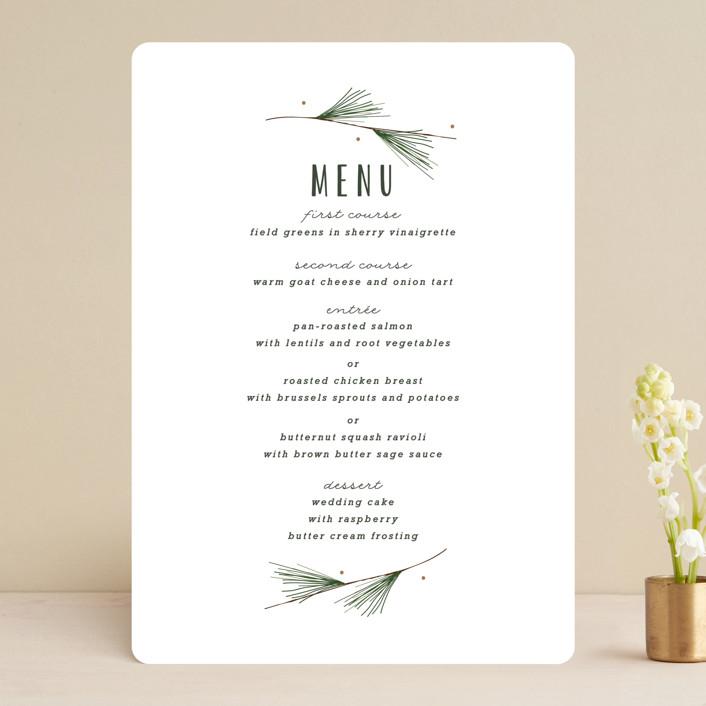 """""""Rustic Wedding"""" - Rustic Menu Cards in Pine by Susan Brown."""