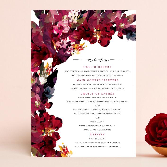 """""""Tidal Blooms"""" - Menu Cards in Holly by Grace Kreinbrink."""
