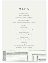 This is a beige menu card by Anelle Mostert called Pattern Play with standard printing on signature in standard.