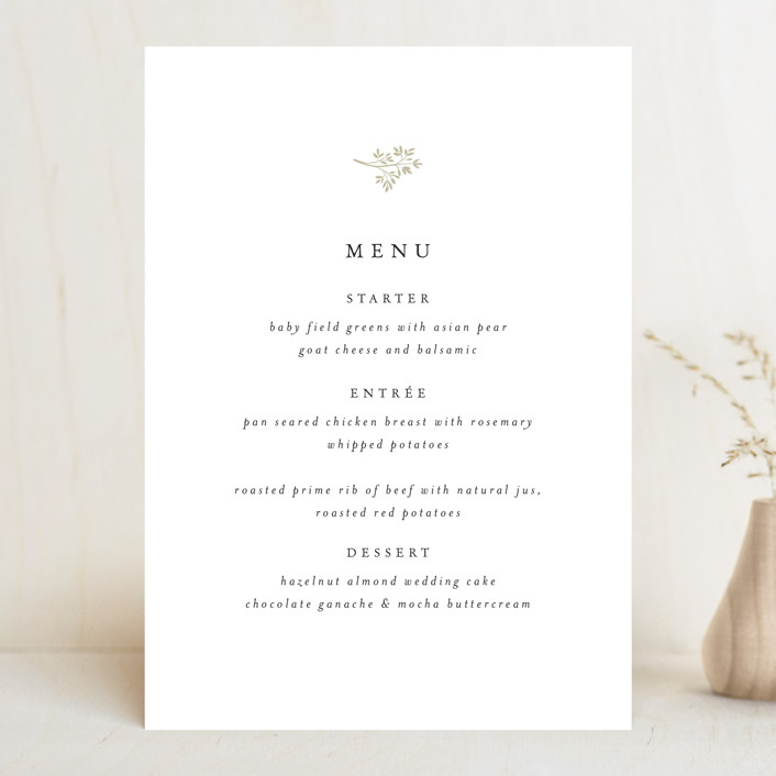 """Sense and Sensibility"" - Menu Cards in Cloud by Design Lotus."
