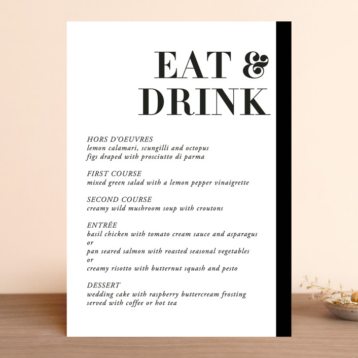 """Basically"" - Menu Cards in Noir by 2birdstone."