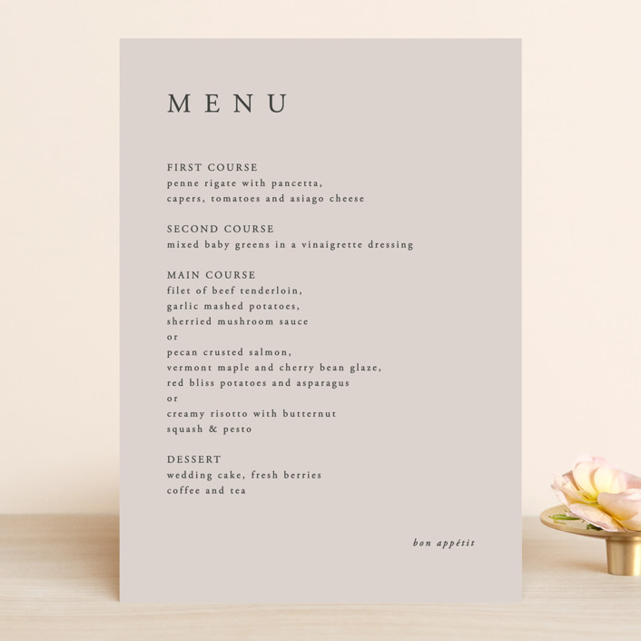 """The Minimalist"" - Menu Cards in Air by lulu and isabelle."