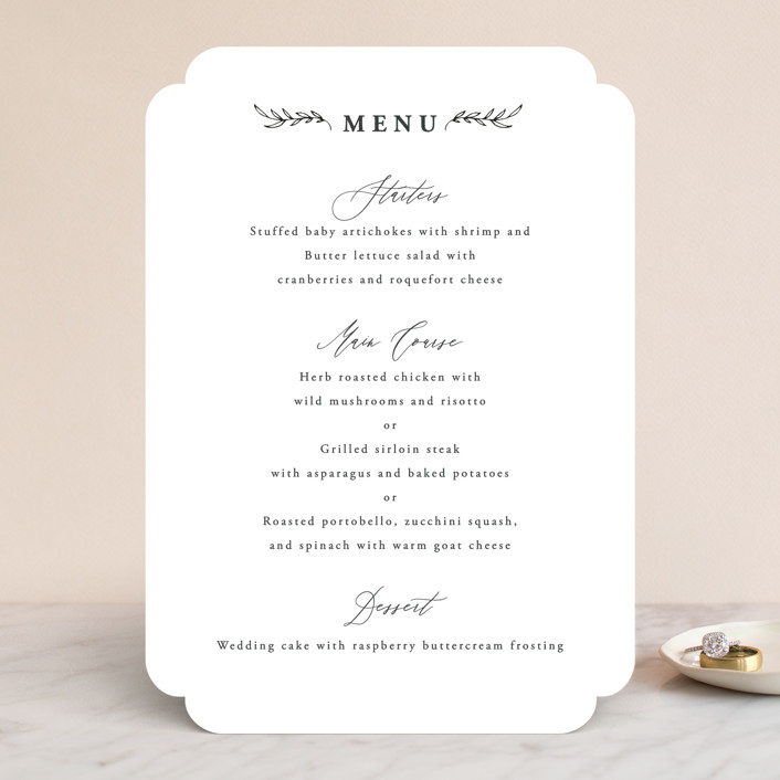 """""""Antoinette"""" - Menu Cards in Ivory by lulu and isabelle."""