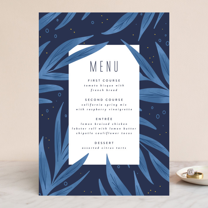 """""""Paradise"""" - Menu Cards in Seaside by Joanna Griffin."""