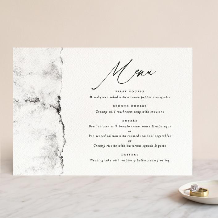 """Inky"" - Modern Menu Cards in Ink by Pink House Press."