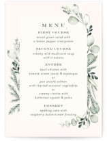 This is a green menu card by Petra Kern called Gentle Greens with standard printing on signature in standard.