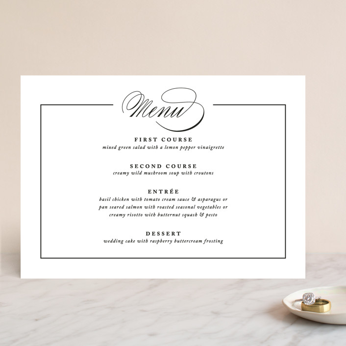 """Typography"" - Menu Cards in Pearl by lena barakat."
