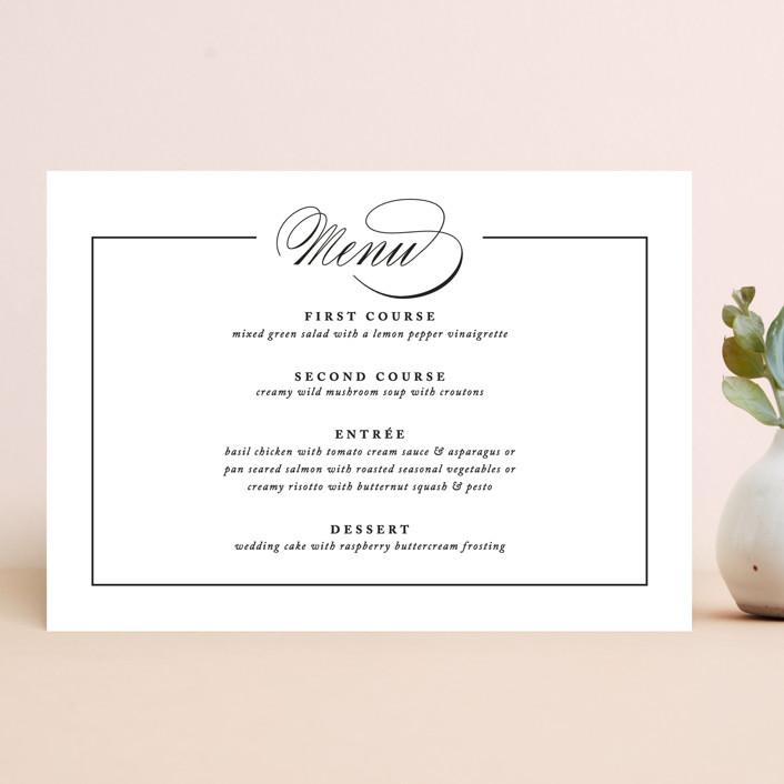 """Typography"" - Menu Cards in Pearl by lena barakat."