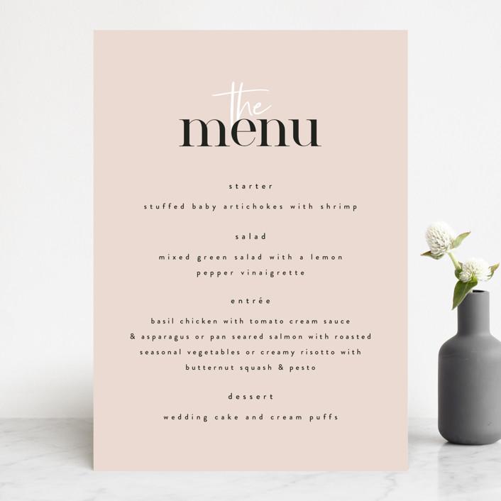 """Loved"" - Menu Cards in Champagne by Angela Garrick."