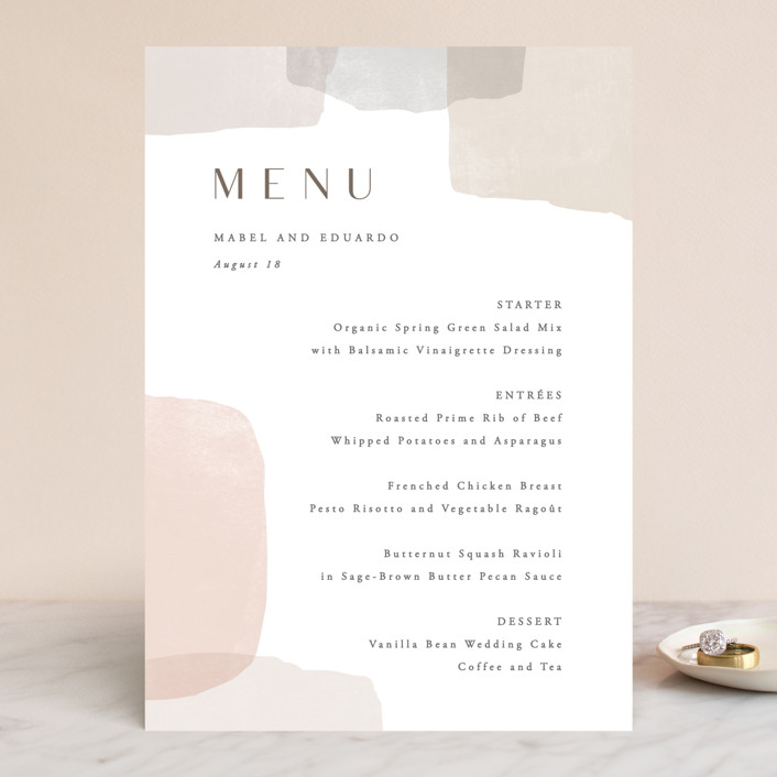 """Sculpture Garden"" - Modern Menu Cards in Desert by Hooray Creative."